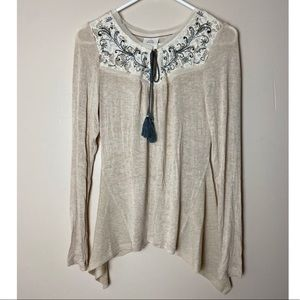 Knox Rose XS Embroidered boho Tops